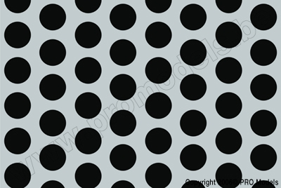 Oracover - Fun 1 (16mm Dots) Silver + Black ( Length : Roll 10m , Width : 60cm ) OR-41-091-071-010