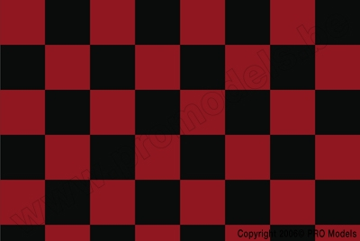Oracover - Fun 3 (25mm Square) Red + Black ( Length : Roll 10m , Width : 60cm ) OR-43-023-071-010