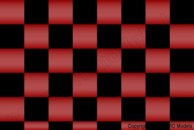 Oracover - Fun 3 (25mm Square) Pearl Red + Black ( Length : Roll 10m , Width : 60cm ) OR-43-027-071-010