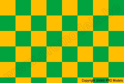 Oracover - Fun 3 (25mm Square) Cadm. Yellow + Green ( Length : Roll 10m , Width : 60cm ) OR-43-033-040-010