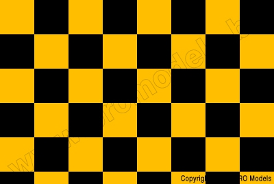 Oracover - Fun 3 (25mm Square) Yellow + Black ( Length : Roll 10m , Width : 60cm ) OR-43-033-071-010
