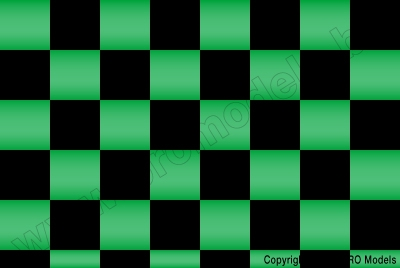 Oracover - Fun 3 (25mm Square) Pearl Green + Black ( Length : Roll 10m , Width : 60cm ) OR-43-047-071-010