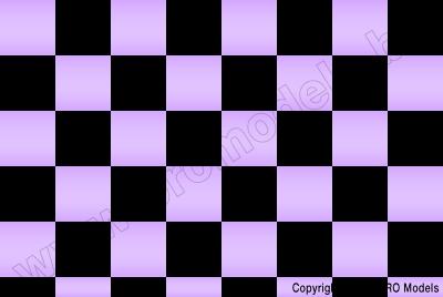 Oracover - Fun 3 (25mm Square) Pearl Purple + Black ( Length : Roll 10m , Width : 60cm ) OR-43-056-071-010