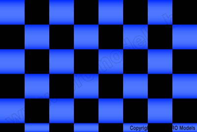 Oracover - Fun 3 (25mm Square) Pearl Blue + Black ( Length : Roll 10m , Width : 60cm ) OR-43-057-071-010