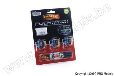 Protech RC - Flightpack 40Mhz 6Ch + 3X B170 + Pro.E18 T0225.400