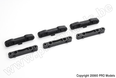 Protech RC - Front + Rear Toe In Set 1,2,3 Degree T30.048