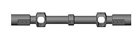 QUERWELLE D11X119 M.KUGELLAGERN Robbe 1-S4888 S4888