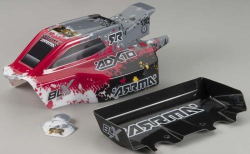Karosserie & Flügel ADX-10 Grunge (Rot) (fertig AR402054