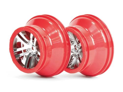 Chromfelgen, rot, vorne/hinten 2 Stück AR510013