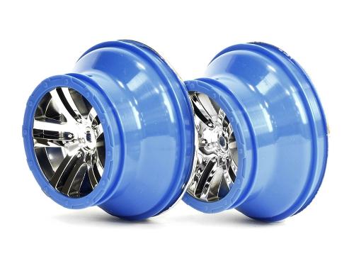 Chromfelgen, blau, vorne/hinten 2 Stück AR510014