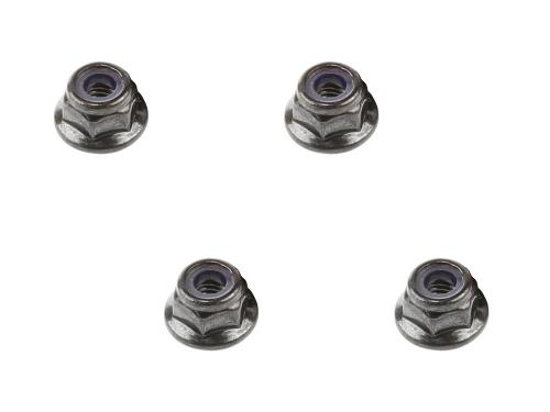 Sicherungsmutter mit Flansch M4, schwarz (4) AR708001