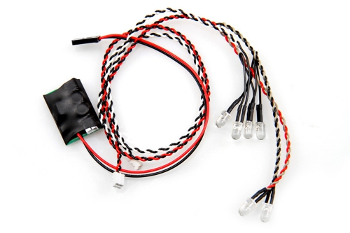 LED-Controller (inkl. LED 4x weiß, 2x rot) 5mm AX24257
