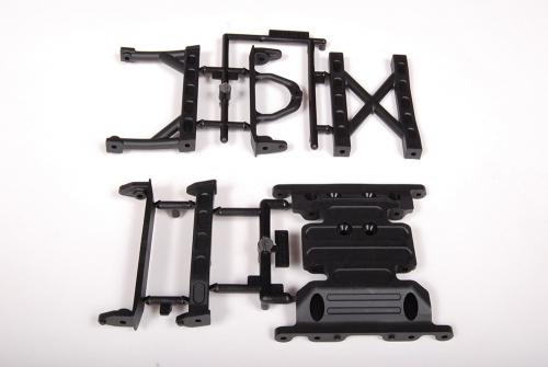 SCX10 Skid Plate & Chassisverbinder, Kunststoff AX80026