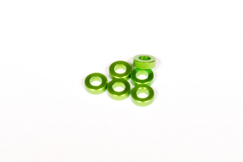 SPACER 2X6MM GREEN (6) AXA1302
