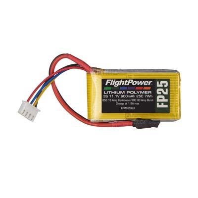 LiPo FP25 11,1 V, 600mAh FPWP2063