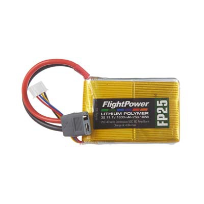 LiPo FP25 11,1 V, 1600mAh FPWP2163