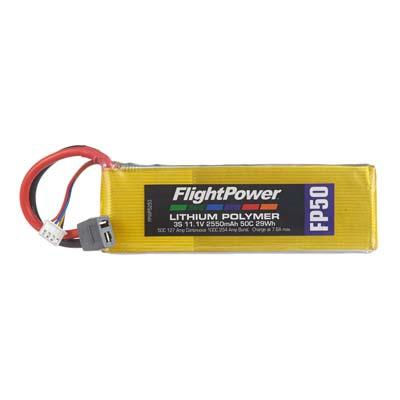 LIPO FP50 11,1 V, 2550mAh FPWP5253