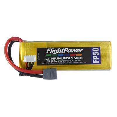 LIPO FP50 18,5 V, 2550mAh FPWP5255