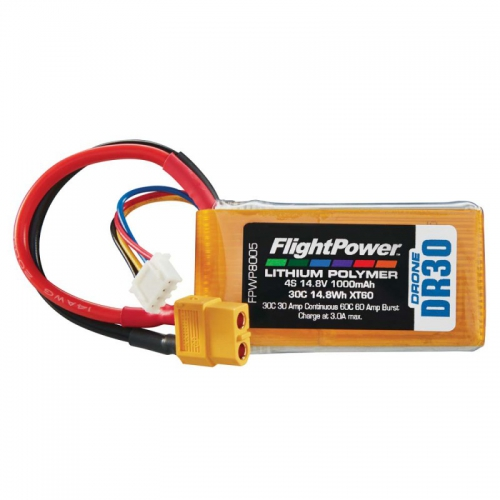 Flightpower LIPO DRONE 14.8V 1000mAh 30C XT6 FPWP8005