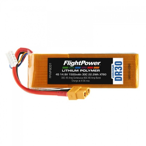 Flightpower LIPO DRONE 14.8V 1500mAh 30C XT6 FPWP8031