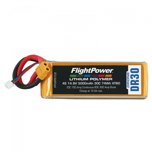 Flightpower LIPO DRONE 14.8V 5000mAh 30C XT6 FPWP8102