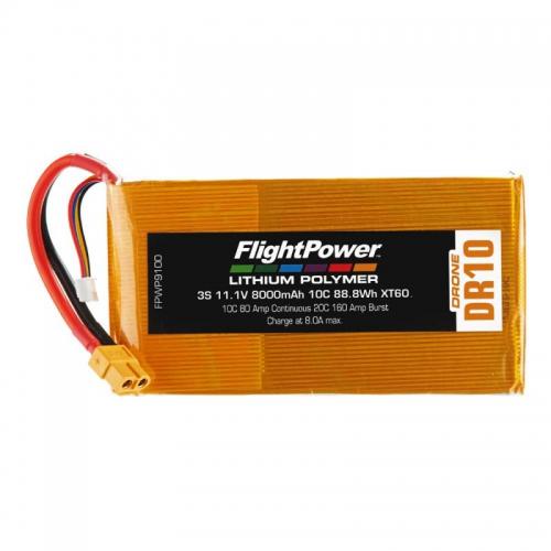 Flightpower LIPO DRONE 11.1V 8000mAh 10C XT6 FPWP9100