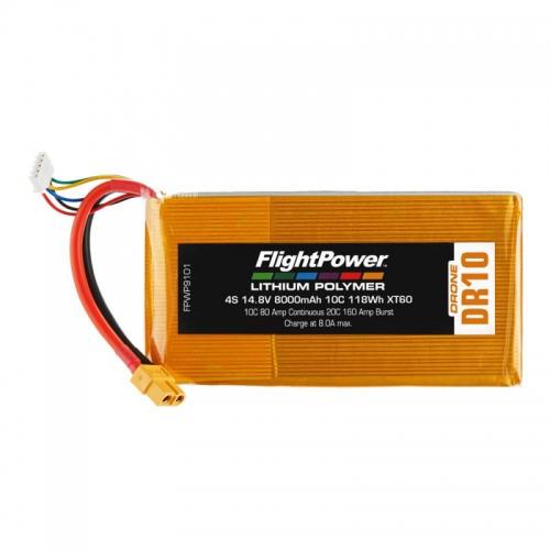 Flightpower LIPO DRONE 14.8V 8000mAh 10C XT6 FPWP9101