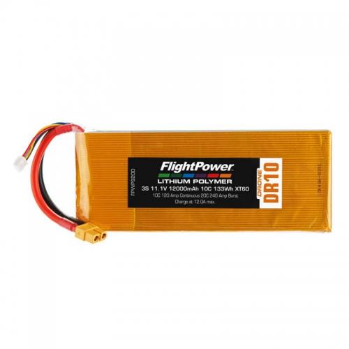 Flightpower LIPO DRONE 11.1V 12000mAh 10C XT FPWP9200