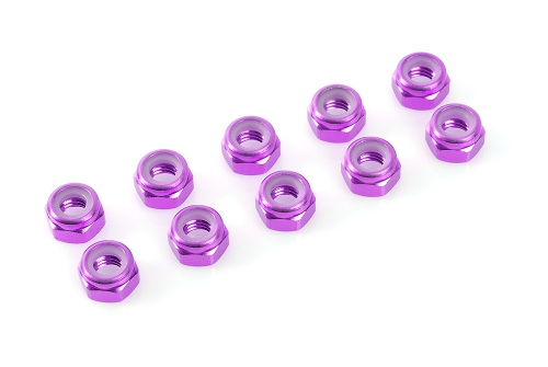 Sechsk.M2 Selbstsichernd Purple, Aluminium 10pcs HCAQ6622