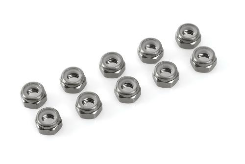 Sechsk.M2Selbstsicher Gun Metal, Aluminium 10pcs HCAQ6623