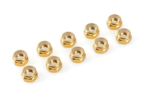 Sechska. M3 Selbstsichernd Gold, Aluminium 10pcs HCAQ6630