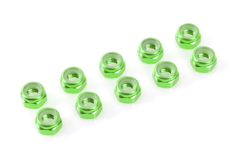 Sechsk. M4 Selbstsichernd Green, Aluminium 10pcs HCAQ6641