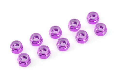 Sechska.M5 Selbstsichernd Purple,Aluminium 10pcs HCAQ6652