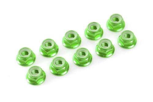 Sechska. M5 mit Bund Green, Aluminium 10pcs HCAQ6691