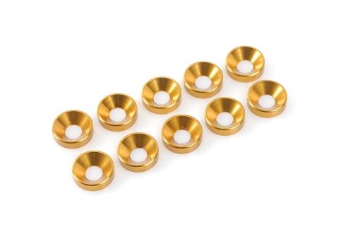 Unterlegscheibe M3 Gold für Senkschrau.Alu.10pcs HCAQ6730