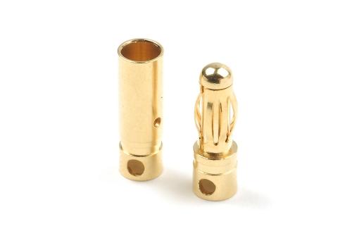 4.0mm Goldstecker Kort, Stecker + Buchse 4paar HCAQ7006