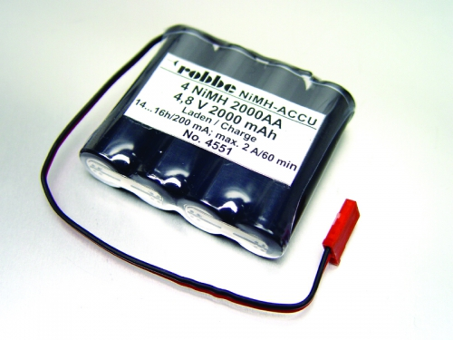 POWER PACK 4 NIMH 2000 AA FLACH Robbe 1-4551 4551