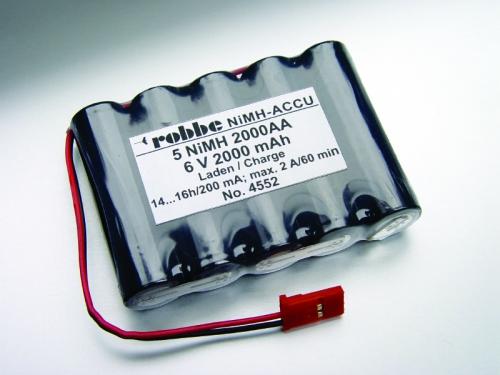 POWER PACK 5 NIMH 2000 AA FLACH Robbe 1-4552 4552