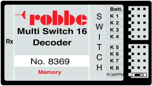 MULTI-SWITCH 16 DECODER MEMORY Robbe 1-8369 8369