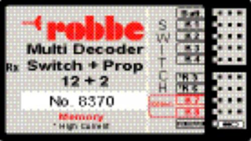 MULTI-SWITCH-PROP 12+2 DECODER MEM Robbe 1-8370 8370