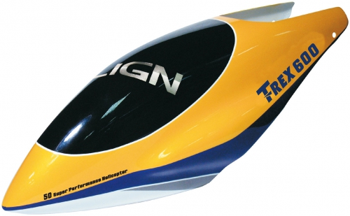 KABINE T-REX 600 GFK D.GELB A Robbe 1-H60097