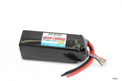 LiPo-Akku 6S2P 22,2V 5200mAh/ Align Robbe HBP52003 1-HBP52003