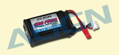 LiPo-Akku 3S1P 11,1V  850mAh2 Align Robbe KX880002 1-KX880002