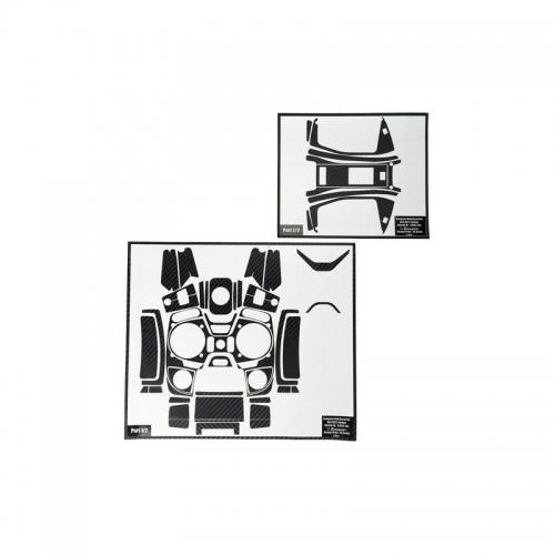 Dekorbogen mz-10/mz-12 Carbon Optik Graupner S1002.14C