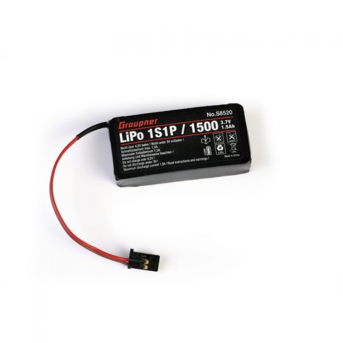 Senderakku LiPo 1S/1500 3,7V für mz-12 P Graupner S8520