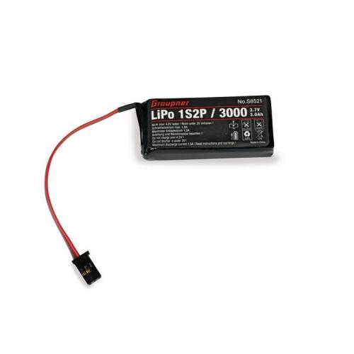 Senderakku LiPo 1S2P/3000 3,7V für mz-12 Graupner S8521