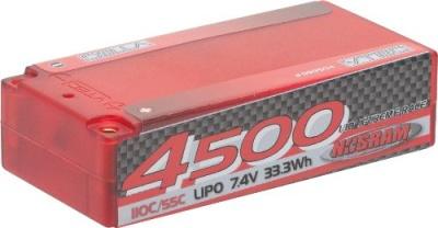 NOSRAM LiPo Shorty 4500 X-TREME Hardcase 55C (110C) 7.4V Thunder