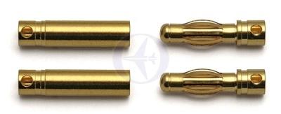 TEAM ASSOCIATED 4mm Goldkontakt-Stecker & Buchse (je 2) Thunder