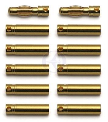 TEAM ASSOCIATED 4mm Goldkontakt-Stecker (2S + 10B) Thunder Tiger