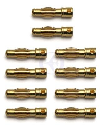 TEAM ASSOCIATED 4mm Goldkontakt-Stecker (10x Stecker) Thunder Tiger 030658